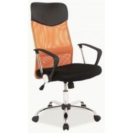 Kancelárska stolička Q-025 oranžová + čierna