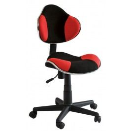 Detská stolička Q-G2 látka, červeno-čierna