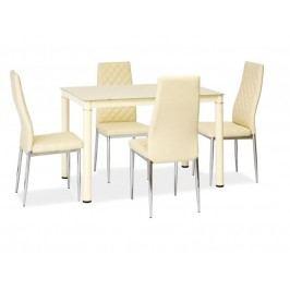Jedálenský stôl Galant (krém) (pre 4 osoby)