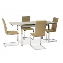 Jedálenský stôl GD-020 (tmavobéžová) (pre 6 osôb až 8 osôb)