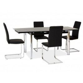 Jedálenský stôl GD-020 (čierna + chróm) (pre 6 osôb až 8 osôb)