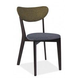 Jedálenská stolička Andre (sivá + zelená)