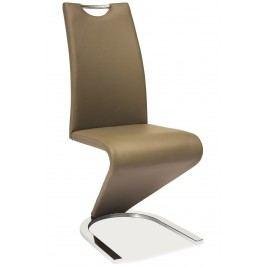 Jedálenská stolička H-090 (ekokoža cappuccino)