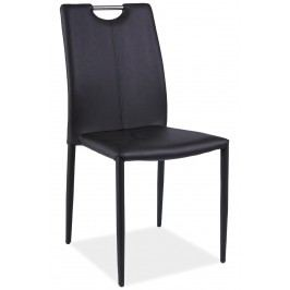 Jedálenská stolička H-322 (ekokoža čierna)