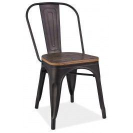 Jedálenská stolička Loft (grafit + orech)