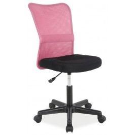 Kancelárske kreslo Q-121 (ružová + čierna)