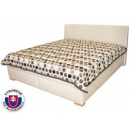 Manželská posteľ 180 cm Benab Toscana (s roštami, matracmi VISCO PLUS a prehozom)