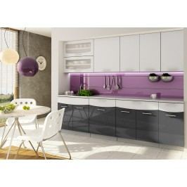 Kuchyňa Smile 240 cm (čierna + biela) Casa-016