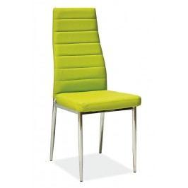 Jedálenská stolička H-261 zelená MOB-4157