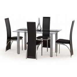 Jedálenský stôl Talon čierny pás (pre 6 osôb)