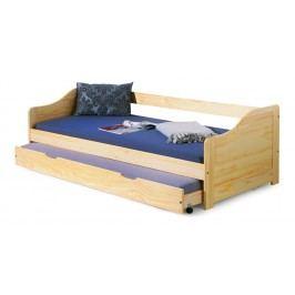 Jednolôžková posteľ 90 cm Laura (masív, s roštom)