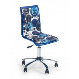 Detská stolička Fun-8 biela + modrá