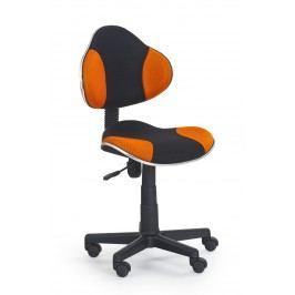 Detská stolička Flash čierna + oranžová