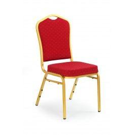 Jedálenská stolička K66 zlatá + bordová