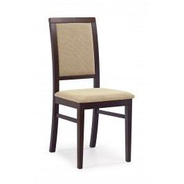 Jedálenská stolička Sylwek 1 Orech tmavý + béž