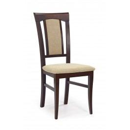 Jedálenská stolička Konrad Orech tmavý + béžová