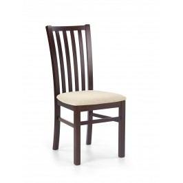 Jedálenská stolička Gerard 7 Orech tmavý + béžová