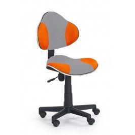 Detská stolička FLASH 2 šedá + pomarančová