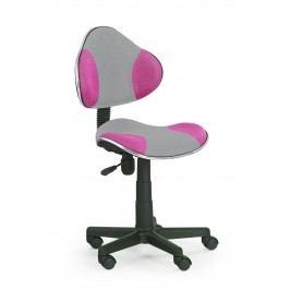 Detská stolička FLASH 2 šedá + ružová