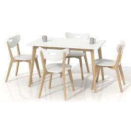 Jedálenský stôl Lorrita biely (pre 4 osoby)