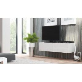 TV stolík/skrinka Livo RTV-160W (biela + lesk biely)