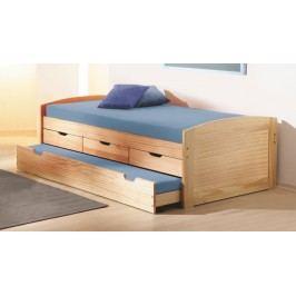 Rozkladacia posteľ 90 cm Marinella (s roštom) (masív)
