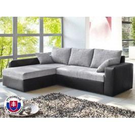 Rohová sedačka Viper čierna + šedá (L)
