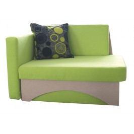 Detská sedačka Kuboš zelená + béžová (L)