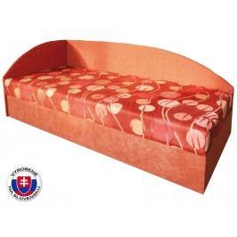 Jednolôžková posteľ (váľanda) 80 cm Marta (so sendvičovým matracom) (L)