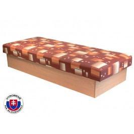 Jednolôžková posteľ (váľanda) 80 cm Edo 12 (s pružinovým matracom)