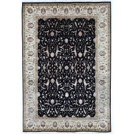 Ručne viazaný koberec Bakero Champa Black-Ivory