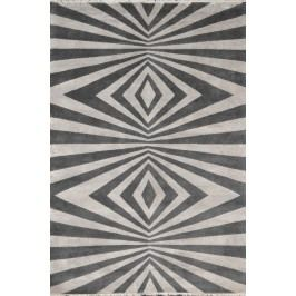 Ručne viazaný koberec Bakero Play prírodný hodváb (od Renata Botev) Šedo-Béžová