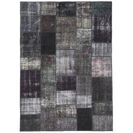 Ručne viazaný koberec Bakero Patchwork Black