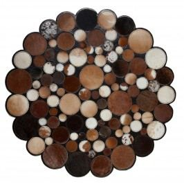 Ručne vyrobený koberec Bakero Sao Paolo Kruhy Tas 4 Brown