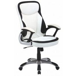 Kancelárske kreslo Afra ekokoža biela + čierna