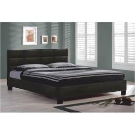 Manželská posteľ 160 cm Mikel čierna (s roštom)