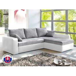 Rohová sedačka Viper biela + šedá (P)
