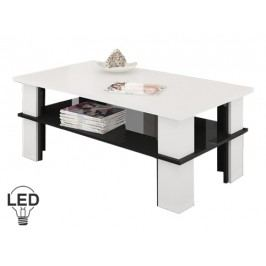 Konferenčný stolík Futura 2 (biela + lesk čierny)