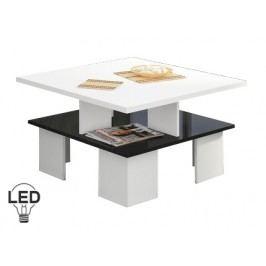 Konferenčný stolík Supra 1 (biela + lesk čierny)