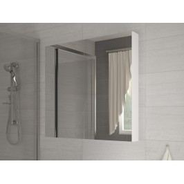 Kúpelňová skrinka na stenu Della 60 biela + zrkadlo
