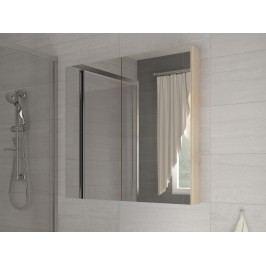 Kúpelňová skrinka na stenu Della 60 dub sonoma svetlý + zrkadlo