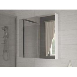 Kúpelňová skrinka na stenu Della 80 biela + zrkadlo