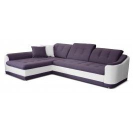 Rohová sedačka Bray L L+2F (fialová + biela) (L)