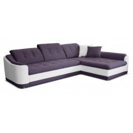 Rohová sedačka Bray L 2F+L (fialová + biela) (P)