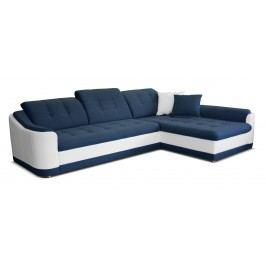 Rohová sedačka Bray L 2F+L (modrá + biela) (P)