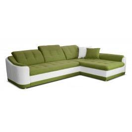 Rohová sedačka Bray L 2F+L (zelená + biela) (P)