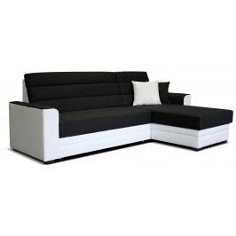 Rohová sedačka Ulm 2F+L (čierna + biela) (P)