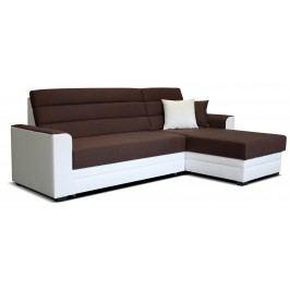 Rohová sedačka Ulm 2F+L (hnedá + biela) (P)