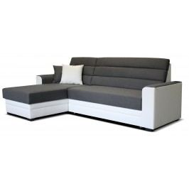 Rohová sedačka Ulm L+2F (sivá + biela) (L)