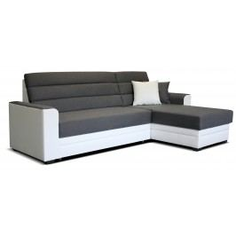 Rohová sedačka Ulm 2F+L (sivá + biela) (P)